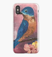 bird sitting on branch iPhone Case/Skin