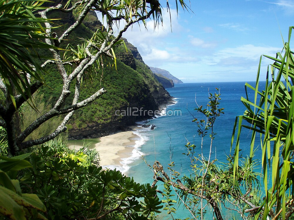 Shoreline of Kauai by call2freedom