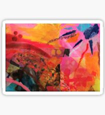 Warm Abstract Sun Fire Collage  Sticker