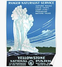 Yellowstone National Park 1938 Poster