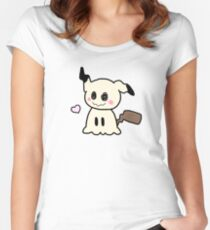 Pokemon Sun Moon Mimikyu Women's Fitted Scoop T-Shirt