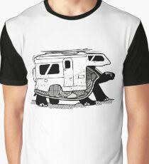 Camiseta gráfica Vanlife tortuga aventurero camper art