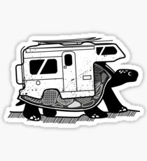 Vanlife turtle adventurer camper art  Sticker