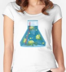 Dangersous Germs in a Beaker Women's Fitted Scoop T-Shirt