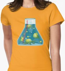 Dangersous Germs in a Beaker Womens Fitted T-Shirt
