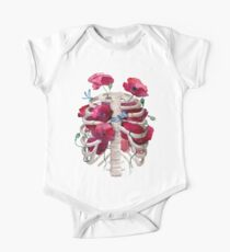 Rib cage with poppy  One Piece - Short Sleeve