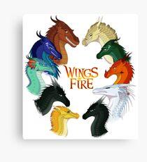 Flügel des Feuers - Alle zusammen Leinwanddruck