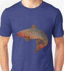 Brook Trout Color Illustration Unisex T-Shirt