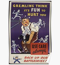 Gremlins Think It's Fun To Hurt You Poster