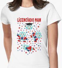 Wrestler Licenciado Man Womens Fitted T-Shirt