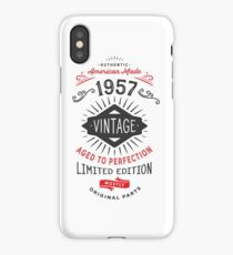 Vintage Born in 1957 Funny 60th Birthday iPhone Case/Skin