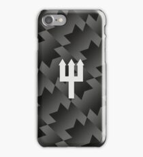 Manchester United Trident Design - Away Kit 2017/18 [Black & White] iPhone Case/Skin