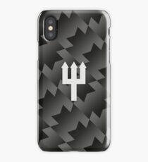 Manchester United Trident Design - Away Kit 2017/18 [Black & White] iPhone Case/Skin