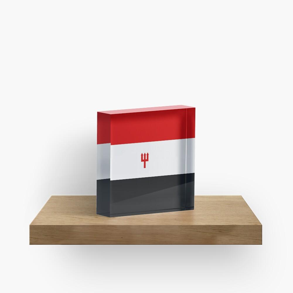 United Trident Design - Rot, Weiß & amp; Schwarz Acrylblock