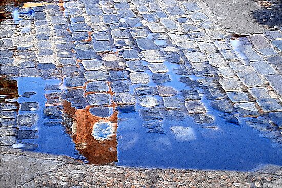 Puddle Clock Tower by KarenM