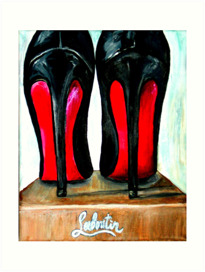 c5c05ccb6553 Christian Louboutin Pop Art Bright Black Red Bottom Heels