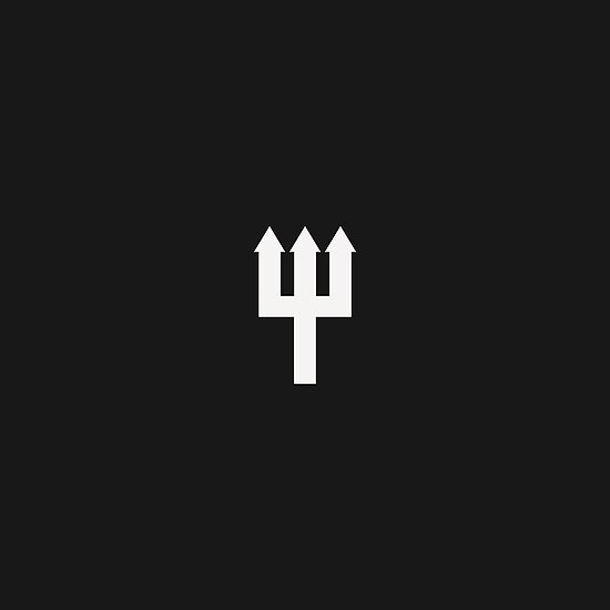 Minimalistic manchester united trident design black white by uniteddesign