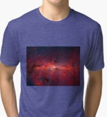The Milky Way in Infrared Tri-blend T-Shirt