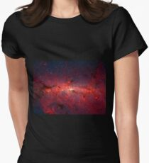 The Milky Way in Infrared Womens Fitted T-Shirt