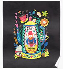 Coffee Lovers-Barista Magic Poster