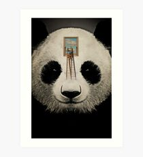 Panda window cleaner 03 Art Print