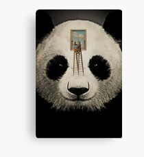 Panda window cleaner 03 Canvas Print