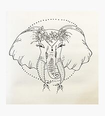 boho elephant Photographic Print