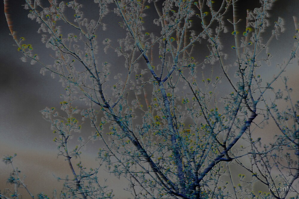 Blue Tree by KarenM