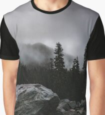Mount Rainer National Park - Gloomy Morning Graphic T-Shirt
