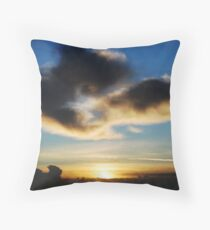 Sunrise over Poole Harbour Throw Pillow