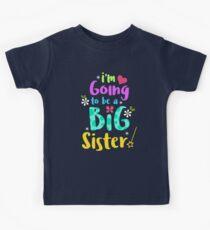 Big Sister Baby Announcement Shirt Kids Tee