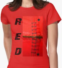ragman red Womens Fitted T-Shirt