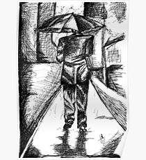 Man in the rain Poster