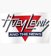 HUEY LEWIS AND THE NEWS LOGO 2017 PAHIMAN Poster