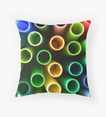 The Straws Throw Pillow