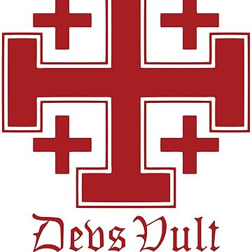 Deus Vult Cross (red) by five5six