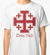 Deus Vult Cross (red) Classic T-Shirt