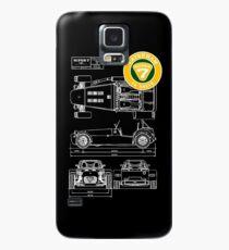 Super 7 Caterham Diagram 16Valve WHT Case/Skin for Samsung Galaxy