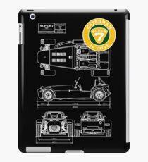 Super 7 Caterham Diagram 16Valve WHT iPad Case/Skin