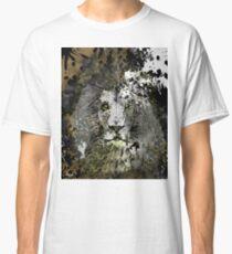 LION PRIDE INK SPLASH ANIMAL ABSTRACT PORTRAIT Classic T-Shirt