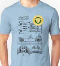 Super 7 Caterham 360R Heritage Diagram BLK T-Shirt
