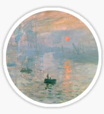 impression, sunrise Sticker