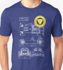 Super 7 Caterham Diagram 16Valve WHT T-Shirt
