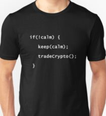 Keep Calm And Trade Crypto Coins Programming Coding T-Shirt T-Shirt