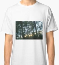 Sunset behind the trees Classic T-Shirt