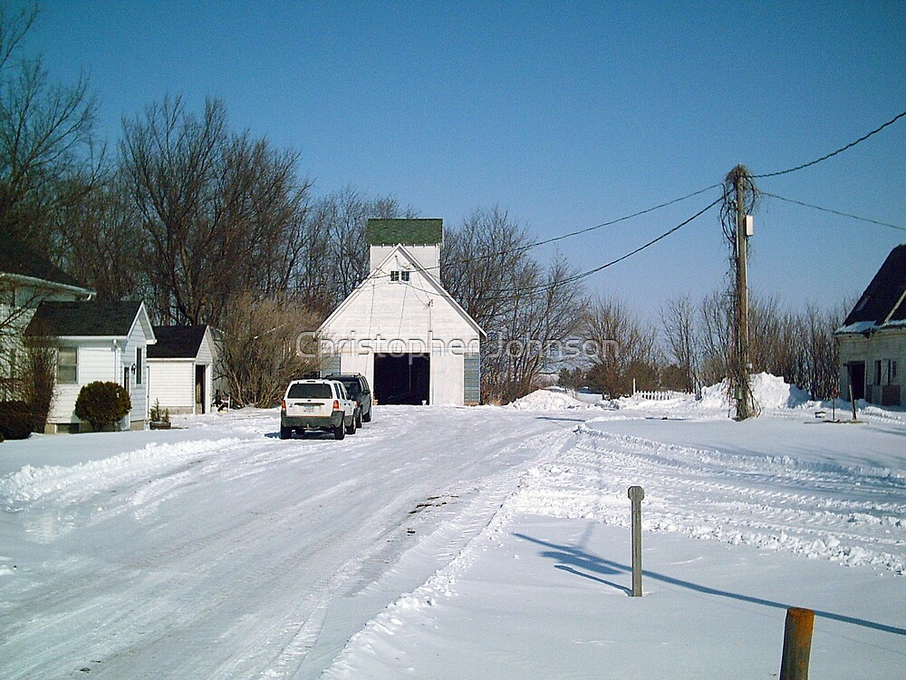 The Farm from the County Road - Middle View - Feb 2008 by Christopher Johnson