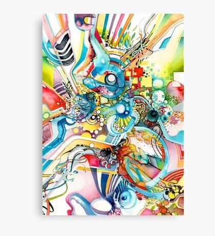 Unlimited Curiosity - Watercolor and Felt Pen Canvas Print