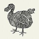 Dodo Vogel Skizze von Hinterlund