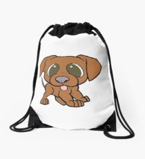 vizsla cartoon Drawstring Bag