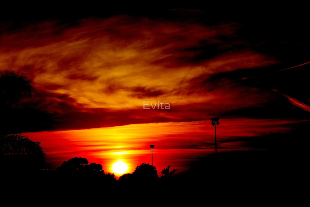 Fiery Sunrise by Evita